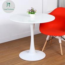 Луи моды обеденный стол круглый современный простой кофе переговоров Досуг и стул сочетание