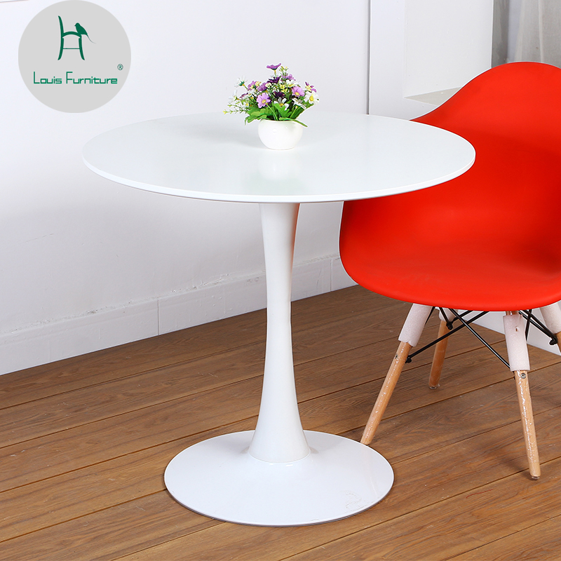 louis fashion dining tables round modern simple coffee
