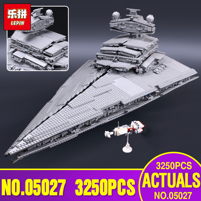 LEPIN 05027 Star 3250Pcs Wars Emperor fighters starship Model Educational Building Kit Blocks Bricks Toy Compatible 10030 new lepin 05027 3250pcs star wars imperial star destroyer model building kit blocks bricks educational compatible legoed 10030