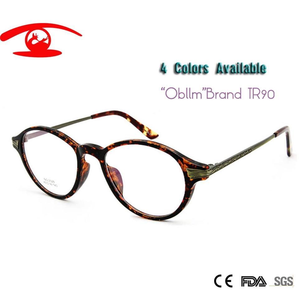 ✅Obblm TR90 Flexible ronda Retro gafas marco mujeres hombres ...