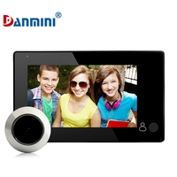 DANMINI YB 43CH Peephole Viewer Doorbell 145 Degree Wide Viewing Video Intercom Built In 4pcs IR