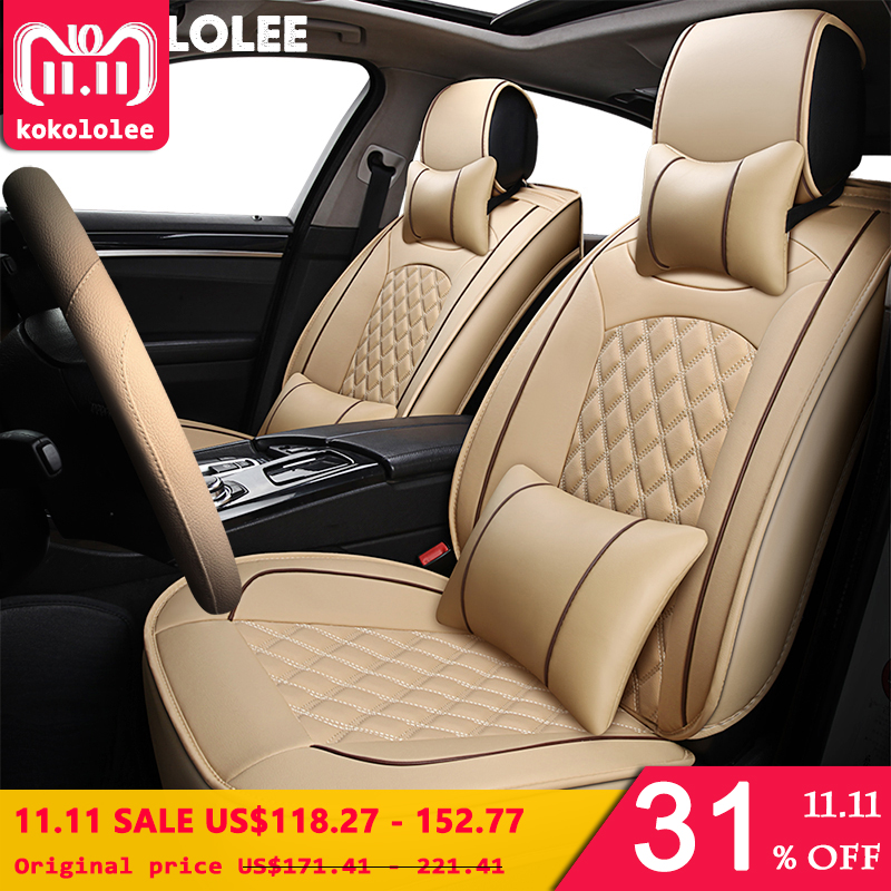 [KOKOLOLEE] PU Leather Car Seat Cover For Volvo XC60 XC90 S60L S90 V40 V60 S60 V70 s40 s60 C70 2013-2016 car accessories styling цена