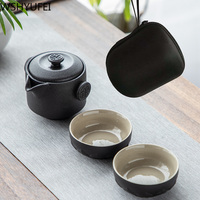 New style Travel tea set Include 1 Pot 2 Cup,kung fu gaiwan teapot teacup, personal office travel portable Teaware