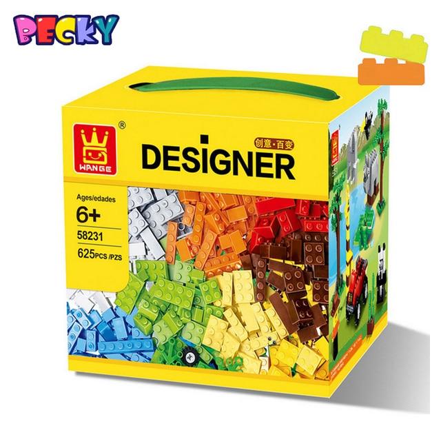 Qwz 625 unids/set creativo diy juguete maquetas de plástico montado bloques de construcción de ladrillos de juguetes educativos para niños regalos