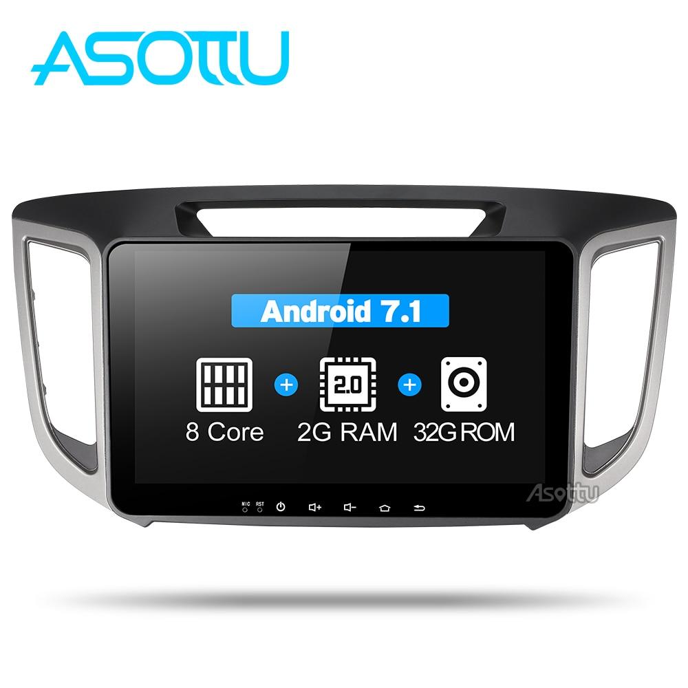 Asottu CIX251060 android 7.1 voiture dvd gps lecteur Pour HYUNDAI IX25 CRETA voiture dvd gps navigation raido vidéo audio lecteur de voiture 2 din