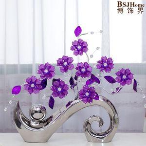 Минималистичная керамическая акриловая креативная простая модная ваза для цветов, аксессуары для домашнего декора, фигурки для свадебной ...