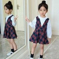 New Fashion Korean Children S Spring 2018 Dress Cotton Plaid Children S Children Clothing Baby Girls