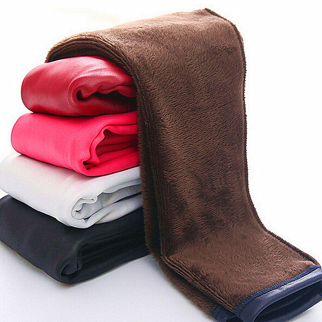 Высокое качество Обувь для девочек PU Обувь для девочек Леггинсы зимняя детская искусственная кожа толщиной бархатные Брюки Обувь для мальчиков утепленные штаны детские, для малышей леггинсы