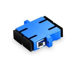 FirstFiber SC/UPC To SC/UPC Singlemode Duplex Plastic Fiber Optic Adapter, Fiber Optic Connector