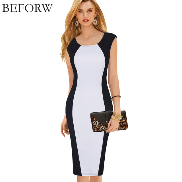 Women's Elegant Hourglass Shape Pencil Dress
