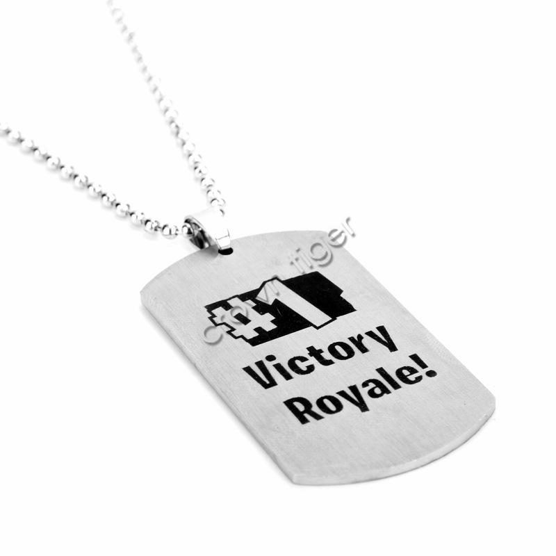 1pc game battle royale necklace for kids children adults action toy figure Stainless steel necklace 1