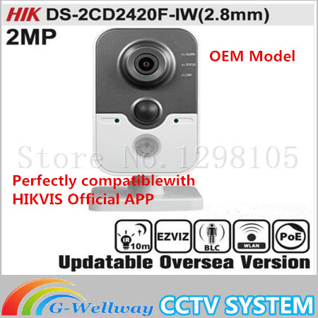 HIKVIS DS-2CD2420F-IW(2.8mm) Original English Version IP Camera 2MP Support POE WIFI Mini Camera IP Camera P2P Onvif HIK HD цена 2017