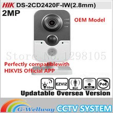 HIKVIS DS 2CD2420F IW 2 8mm Original English Version IP Camera 2MP Support POE WIFI Mini