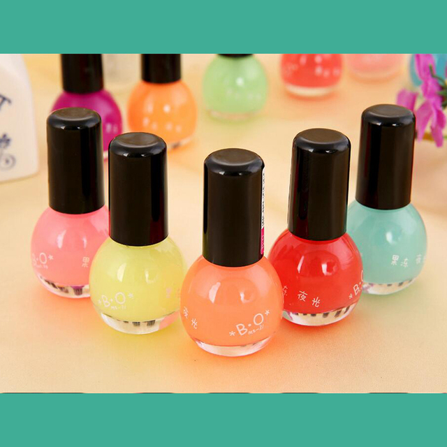12 colors nail polish glow in the dark nail polish and paint Neon ...