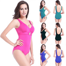 Pregnant women large yards piece swimsuit cover belly was thin plus fertilizer to increase the hot spring halter waist bikini one piece skirt style conservative cover belly was thin angle women small chest steel tube gather swimsuit paternity hot spring