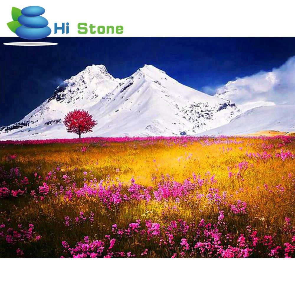 Новый 5D DIY картина, вышитая бисером наборы алмазной вышивки мозаики снег горные пейзажи художественных промыслов картина подарок