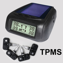 Photo voltaic Energy Wi-fi Tire Stress Monitoring System Automotive TPMS with 4pcs Inner sensor