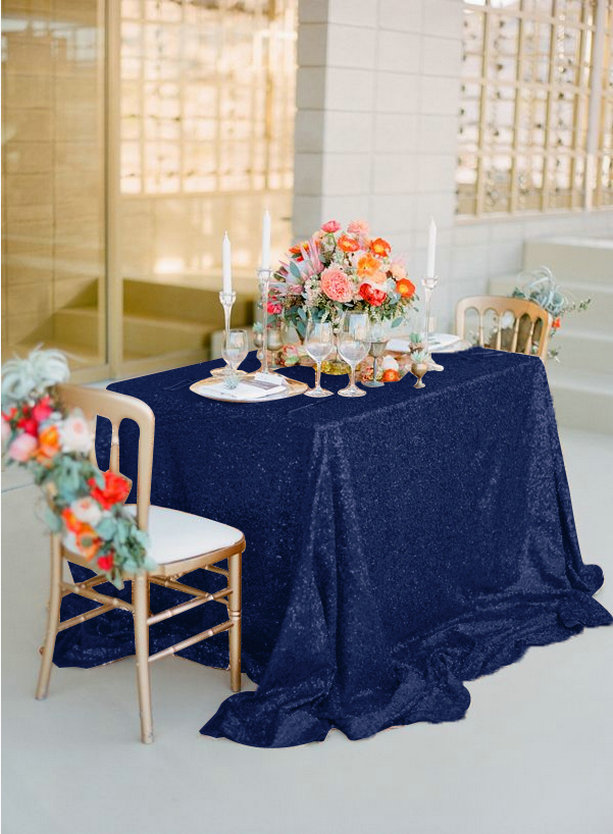 Aliexpress.com : Buy ShinyBeauty Navy Blue 3.3m Square Sequin Table Overlay  132 Inch Square Glitter Table Linen For Wedding Decoration From Reliable  Linens ...