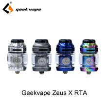 Newest Electronic Cigarette Geekvape Zeus X RTA 4.5ml tank with Delrin drip tip vape atomizer rta vs zeus rta fit aegis legend