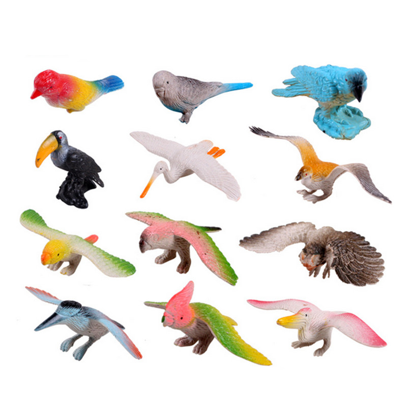 Parrot Home Decor Trend Flying High: New Arrival 12pcs/set Mini Birds Action Figure Toys Eagle