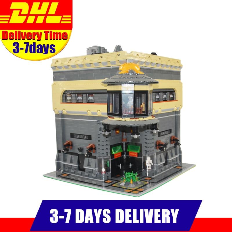 Modular MOC LEPIN 15015 5003pcs City Street The dinosaur Museum Model Building Kits Set  Blocks Brick Toy movado museum classic 0606503