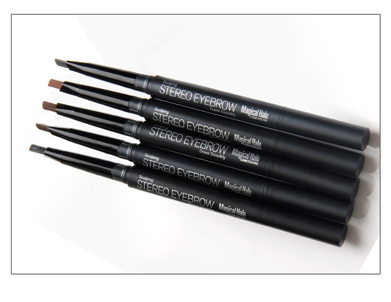 Magica Halo Automatic Eyebrow Pencil Paint for Eyebrow Shadow with Brushes Professional Black Grey Waterproof Eyebrow Pencil 9