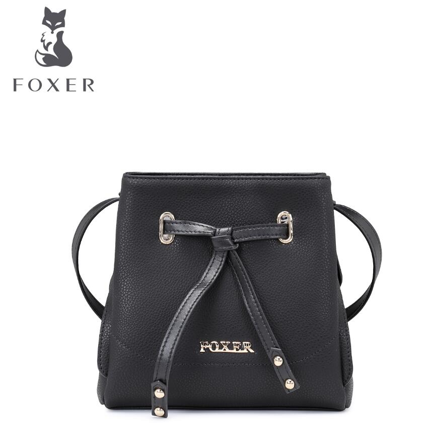 ФОТО FOXER2017 new luxury fashion high-grade leather casual shoulder diagonal cross-leather bag brand-name products 100% high-quality