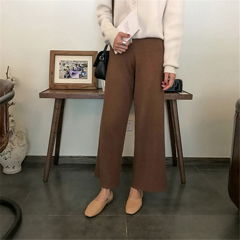 Women's Clothing Humor Gold Velvet Trousers Wide Casual Pants Female Wide Leg Trousers Was Thin Sports Pants 2018 Autumn And Winter New Pants Hot Sale 50-70% OFF Pants & Capris