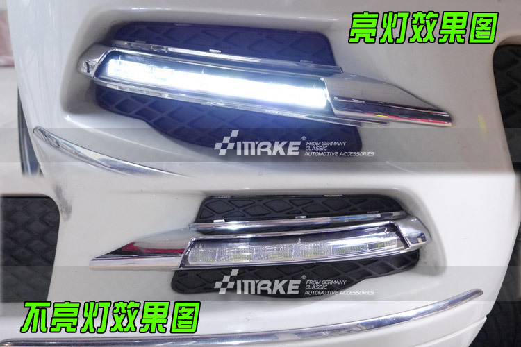 DRL Led daytime running light for Mercedes Benz W204/C class 2007-2011 led drl daytime running light akd car styling for mercedes benz c class c200k led star light drl front grille led logo hollow emblem daytime running light