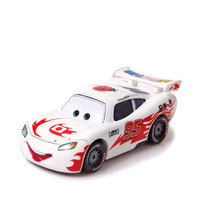 Disney 100 Original Pixar Cars Diecast NO 95 White Japan McQueen Metal Toy Car 1 55