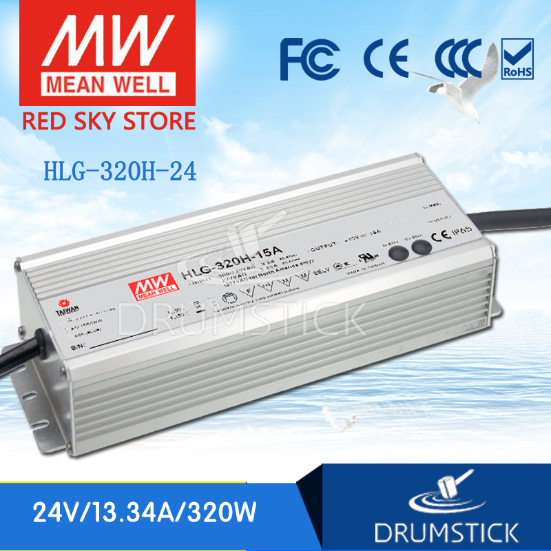 Selling Hot MEAN WELL HLG-320H-24 24V 13.34A meanwell HLG-320H 24V 320.16W Single Output LED Driver Power Supply genuine mean well hlg 320h 36b 36v 8 9a hlg 320h 36v 320 4w single output led driver power supply b type