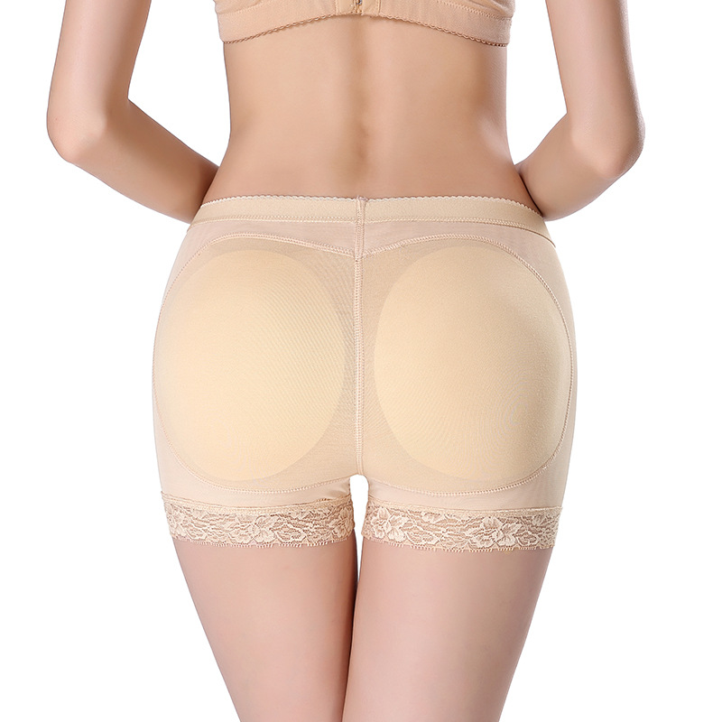 Cotton Butt lifter Panties For Women Short Padded Lace Butt Lifter Enhancer Boyshorts Briefs Safety Short Pants Plus Size
