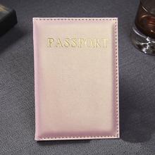 Casual PU skórzane paszport Pokrowce Akcesoria podróżne ID Bank karta kredytowa torba mężczyźni kobiety paszport Business Holder portfel Case tanie tanio Posiadacze kart IDENTYFIKATOROWYCH Posiadacz karty RFID paszport wizytówka karty kredytowej 14cm 9 6 cm od Masz Bez zamków błyskawicznych