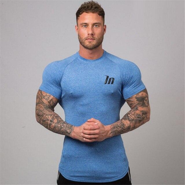 Brand Gym T Shirt Men Rashgard Sportswear Sport Shirt Running Tshirt Compression T-shirt Fitness Sports Jogging Workout Tshirts