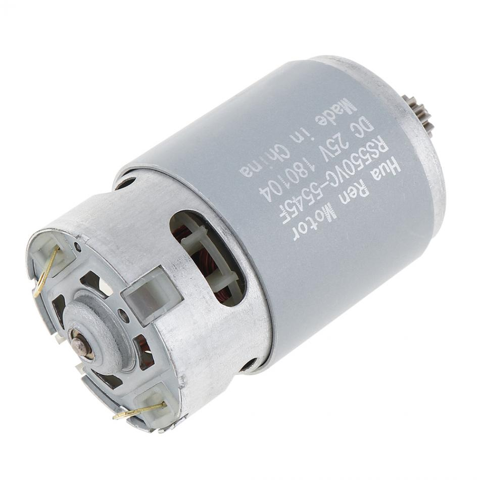 25V 12 Teeth motor RS550 19500 RPM DC Motor with Two-speed 12 Teeth and High Torque Gear Box for Electric Drill / Screwdriver image