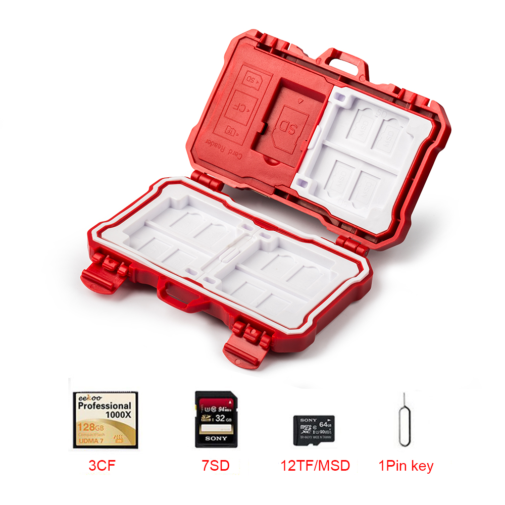Viltrox 2 dans 1 Lecteur de Carte Mémoire SD CF TF Micro SD carte Cas Titulaire Boîte De Rangement Étanche Anti-Choc pour OTG Android Téléphone PC