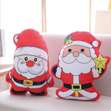 Lovely Santa Claus Pillow Short Plush Toy PP Cotton Stuffed Christmas Gift Send to Children & Friend