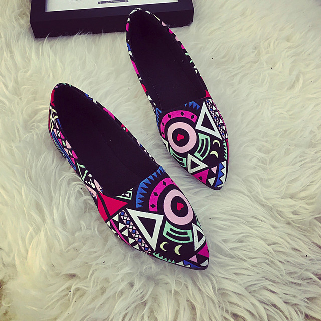 MUQGEW Women Flats 2018 New Spring Shoes Women Casual  Multicolor All Seasons Ballet Slip On Flats Loafers Shoes  Woman