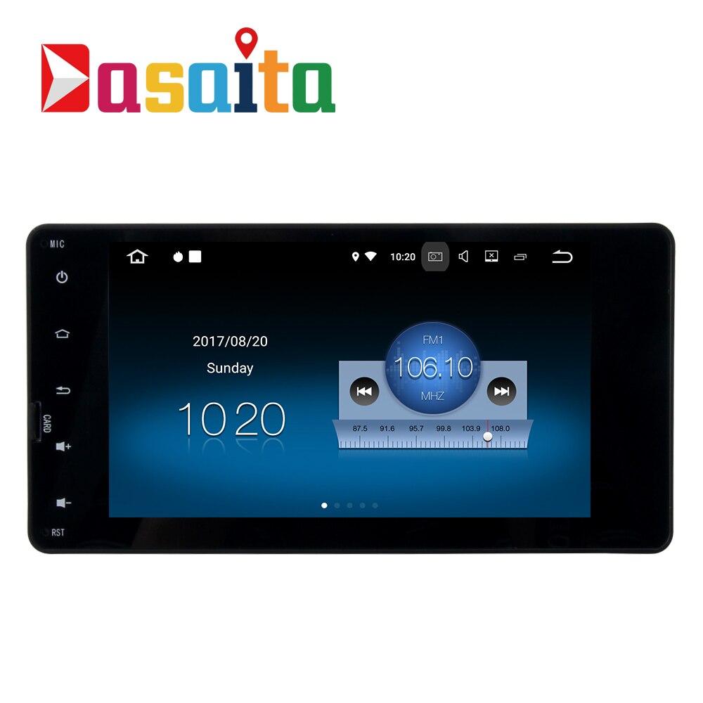 Dasaita 7 Android 8.1 Voiture GPS Lecteur Navi pour Mitsubishi Outlander Lancer-X ASX 2014-2015 avec 2g + 16g Quad Core Stéréo Pas DVD