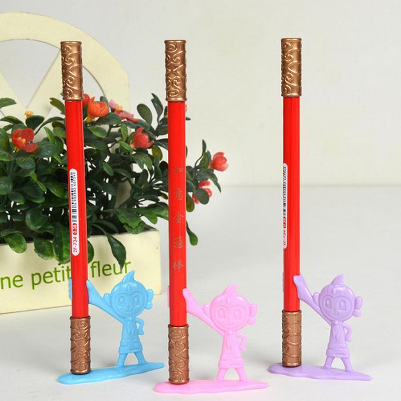 Coloffice Creative Cute Monkey King Golden Cudgel Stick Shape 0.38mm Gel Pen Black Ink Gift Stationery Office School Supplies Pleasant In After-Taste Pens, Pencils & Writing Supplies Office & School Supplies