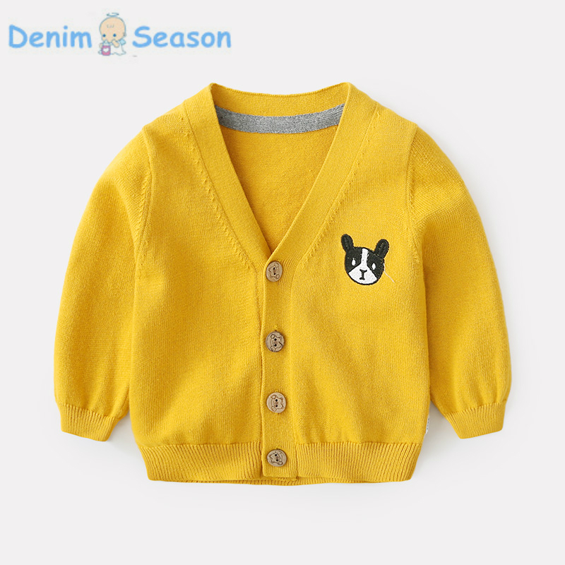 DenimSeason Spring Baby Boys Coat Boys Jacket Baby Knitted Jacket Baby clothing Onesie Cardigan Casaco Infantil