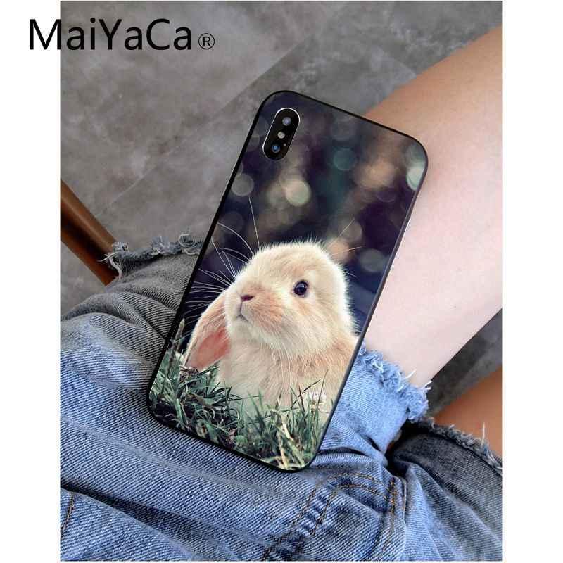 MaiYaCa animal lindo conejo de conejito de Coque funda del teléfono carcasa 8 para el iPhone de Apple 7 6 6S Plus X XS X MAX 5 5S SE XR cubierta móvil