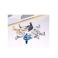 Necklace Heart Puzzle Pendant Titanium Steel Couple Couple Heart PendantNecklaces Pendants