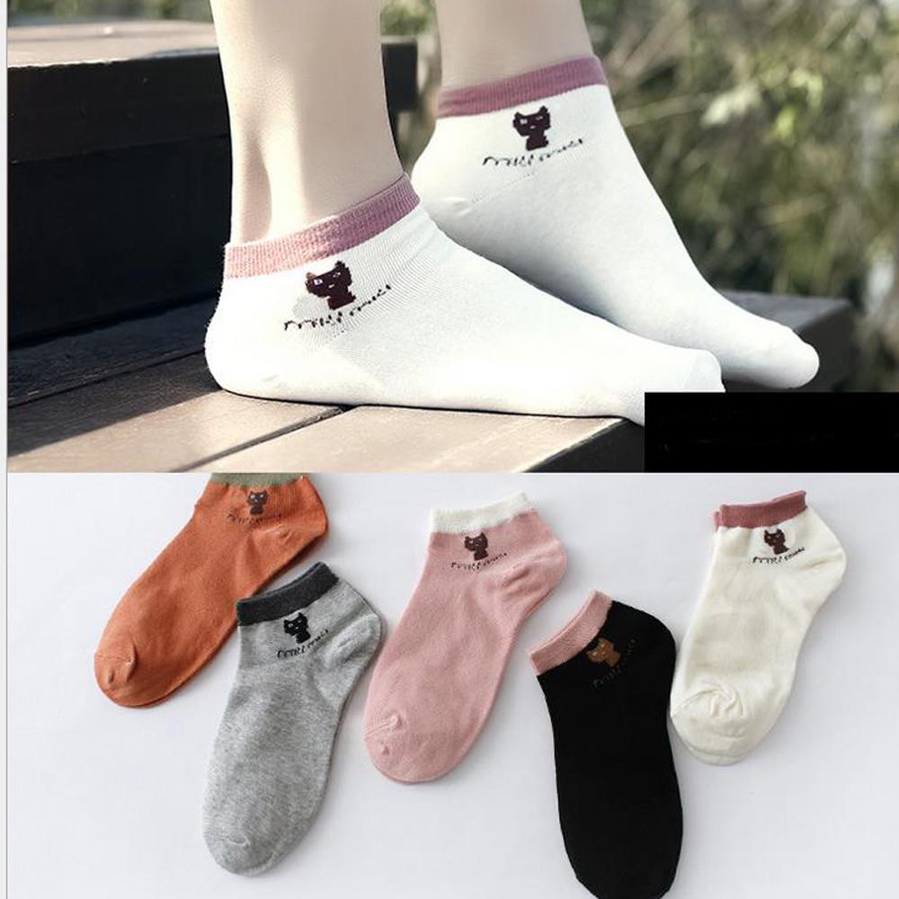 Womail Man's Women's Short   Socks   1Pair Unisex Comfortable Stripe Cotton Slippers Short Ankle   Socks   fashion Solid dropship j15