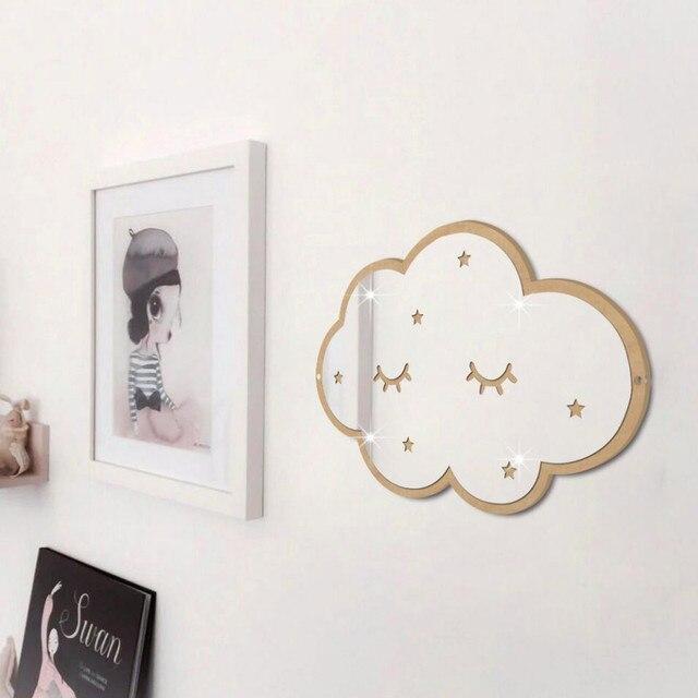 INS Nordic Style Cloud Mirror Acrylic Bathroom Decoration Mirror  Shatterproof For Kids Room Nursery Home Wall