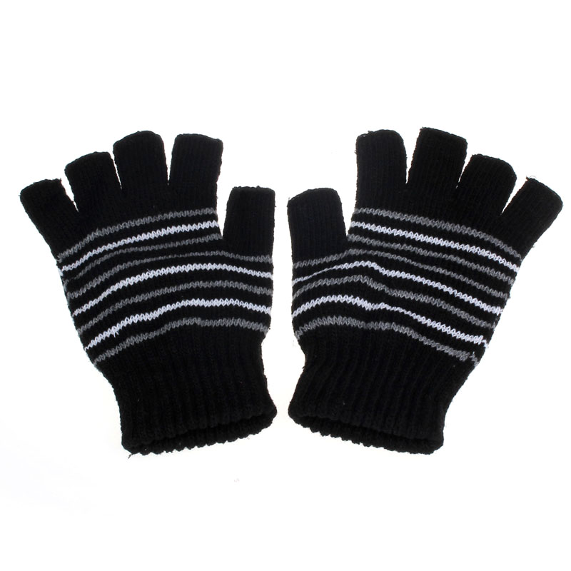 High Quality Warm Fingerless Stylish Hand Warmer Winter5V USB Powered Heating Heated Winter Hand Warmer Gloves Washable BKY418