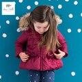 DB975 dave bella bebê do inverno da menina casaco de pato branco para baixo jaqueta acolchoada