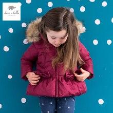DB975 дэйв белла зима девочка пальто белая утка вниз ватник