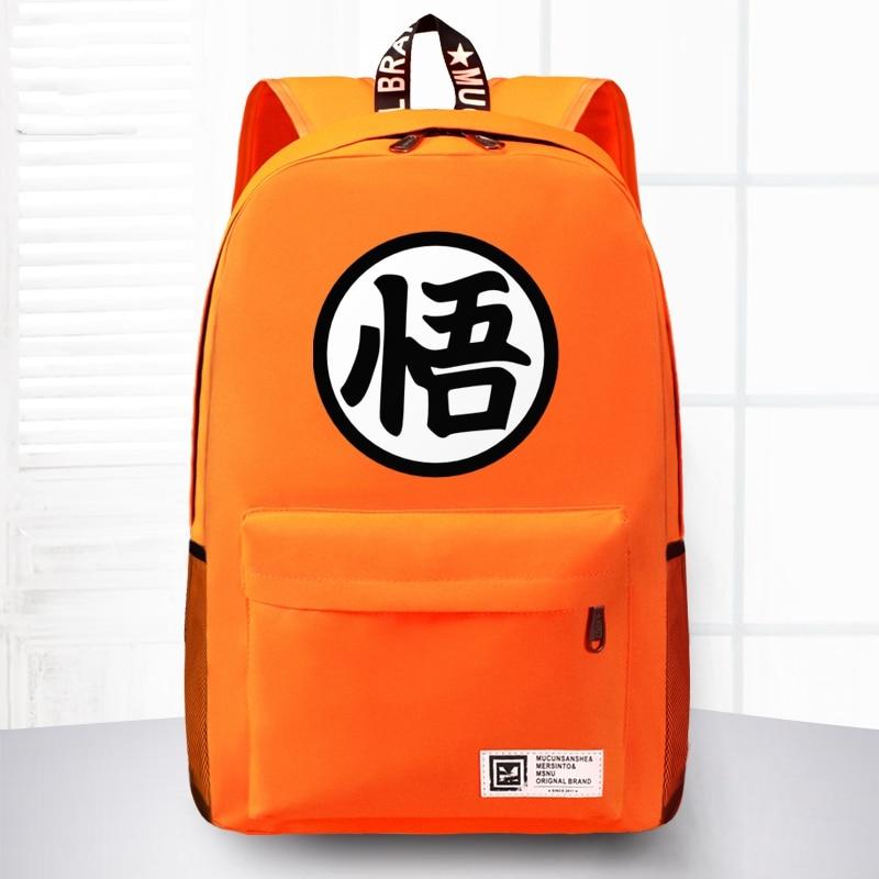 Free Shipping High Quality Japanese Anime Dragon Ball Backpacks Goku Backpack School Bags For Teenagers Casual