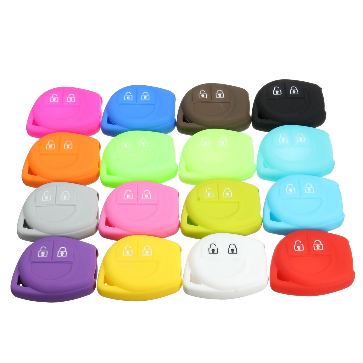Image 2 - 16 Color Silicone 2 Button Remote Key Case Fob Protect Cover For Suzuki /SX4 /Swift /Vitara-in Key Case for Car from Automobiles & Motorcycles